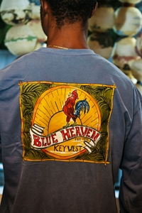 """Picture of Blue Heaven """"Cuban Rooster"""" in Blue or Crimson"""