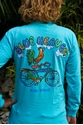 "Picture of Blue heaven ""Rooster on Bike"" in Lagoon Blue"