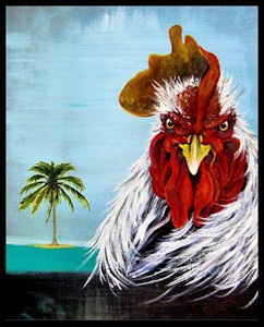 "Picture of ""Benny the Beak"" 8x10 by local Key West Artist Jimm Sherrington"