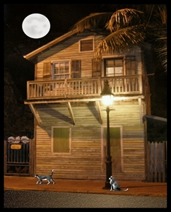 """Picture of """"Gambling House"""" 8x10 painting by local Key West artist Jimm Sherrington"""