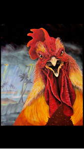 "Picture of ""FRANKENCOCK"" 8x10 by Award Winning local Key West Artist Jimm Sherrington"