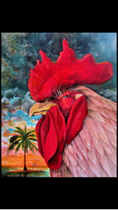 "Picture of ""Fred the Rooster"": 8x10 by Award Winning local Key West Artist Jimm Sherrington"